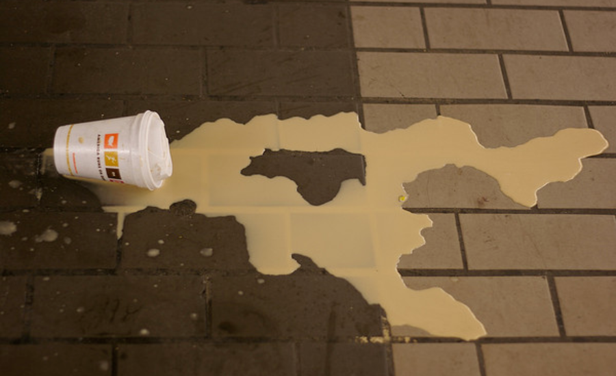 Spillage of a coffee cup is much like lost traffic to your website